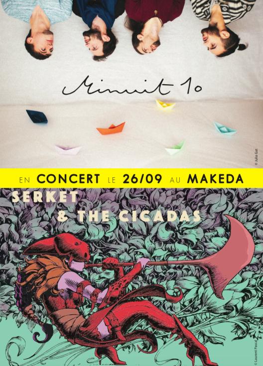 Le 26 septembre au Makeda  • SERKET & THE CICADAS •